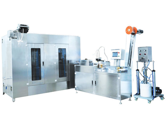KW-200 automatic elastic tapes/laces silicone coating machines