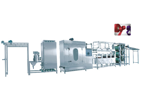 KW-812-S/D600,this is a kind of Satin ribbons/label ribbons continuous dyeing machines.energy saving, our patents