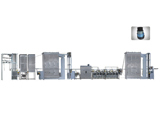 KW-800-AQS400 Two ends Automobile Seatbelt webbings continuous dyeing machine
