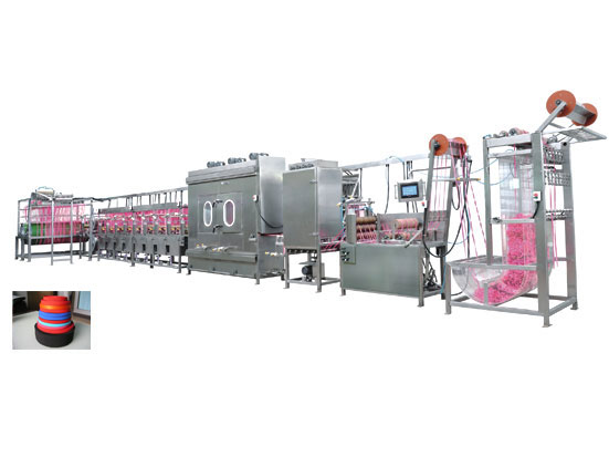 KW-807-SJ-400-A,This is an updated newest elasitc tapes continuous dyeing machine with Option of PLC and J-Box. our patents. it's the best seller in 2013