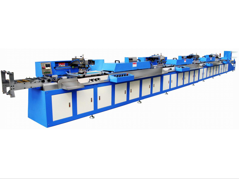 Fully automatic roll to roll label ribbons screen printing machine